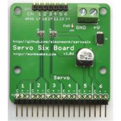 MonkMakes ServoSix-kort för Raspberry Pi och Arduino