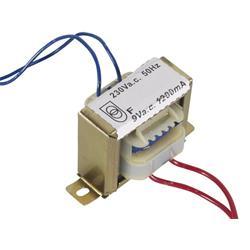 Transformator, 230 V till 1 x 9 V, 1200 mA, 10.8 VA
