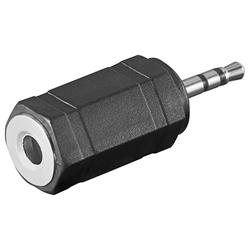 Adapter, 3-polig 2.5 mm hane till 3-polig 3.5 mm hona