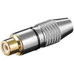 RCA-kontakt, sladdhona i metall med svart markering