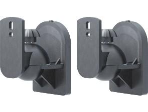<b>Universellt högtalarfäste för väggmontage i 2-pack</b><br>Montera högtalare på upp till 3.5 kg på väggen med Goobay universella högtalare i svart eller vitt.