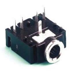 Kretskortsmonterad anslutning för 3-polig 3.5 mm kontakt