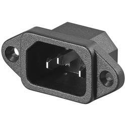 AC chassikontakt, till kabel med C13-kontakt