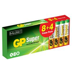 GP Super Alkaline AAA 8 + 4-pack