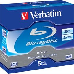 Verbatim BD-RE, 2x, 25GB/200min
