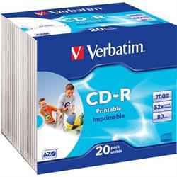 Verbatim CD-R, 52x, 700MB/80min