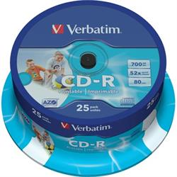 Verbatim CD-R, 52x, 700MB/80min