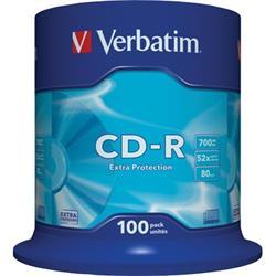 Verbatim CD-R, 52x, 700MB/80min, 100-pack spindel