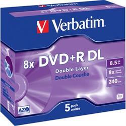 Verbatim DVD+R DL, 8x, 8,5GB/240min