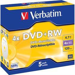 Verbatim DVD+RW, 4x, 4,7GB/120min
