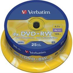 Verbatim DVD+RW, 1-4x, 4,7GB/120min