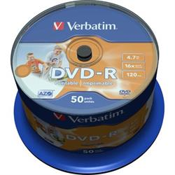 Verbatim DVD-R, 16x, 4,7GB/120min