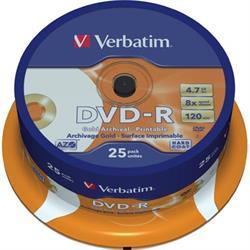 Verbatim DVD-R, 8x, 4,7GB/120min