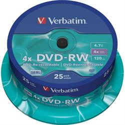 Verbatim DVD-RW, 4x, 4,7GB/120min