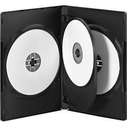 CD / DVD-fodral för 4 skivor, 5-pack