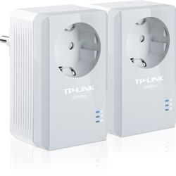 TP-LINK AV500 Powerline Adapter med AC Pass Through Starter Kit, två enheter, 500Mbps