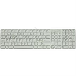 DELTACO multimedia-tangentbord, vit
