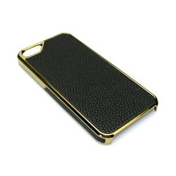 Sandberg Cover iPh5 Black skin + Gold