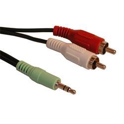 Sandberg Kabel mellan ljudenhet med minikontakt-utgång och stereoanläggning - 2 meter