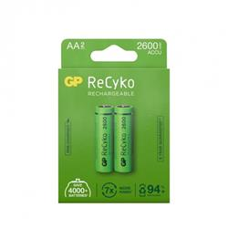 GP ReCyko laddbart AA-batteri, 2600 mAh, 2-pack
