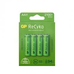GP ReCyko laddbart AA-batteri, 2100 mAh, 4-pack