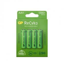 GP ReCyko laddbart AA-batteri, 1300 mAh, 4-pack