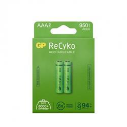 GP ReCyko laddbart AAA-batteri, 950 mAh, 2-pack