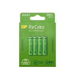 GP ReCyko laddbart AAA-batteri, 950 mAh, 4-pack