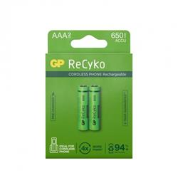 GP ReCyko laddbart AAA-batteri, 650 mAh, 2-pack