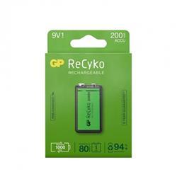 GP ReCyko laddbart 9 Volt-batteri, 200 mAh, 1-pack