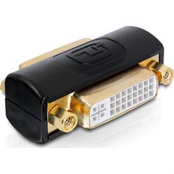 DELTACO DVI-adapter Dual Link, DVI-I ho-ho, svart