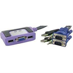 ATEN KVM-switch, 1 konsol styr 2datorer