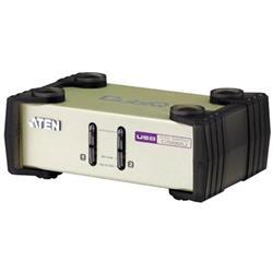 ATEN KVM-switch, 1 konsol styr 2 datorer