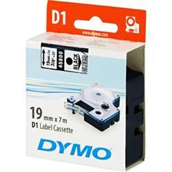 DYMO D1, märktejp, 19 mm, 7 meter, svart på transparent