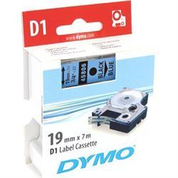 DYMO D1 märktejp, 19 mm, 7 meter, svart text - blå tejp