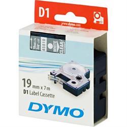 DYMO D1, märktejp, 19 mm, 7 meter