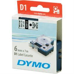 DYMO D1, märktejp, 6 mm, 7 meter