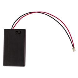 Batterihållare 3 x AAA med JST-kontakt och strömbrytare
