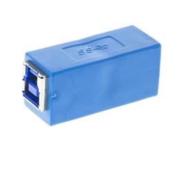 USB 3.0 adapter, Typ B ho - Typ B ho, blå