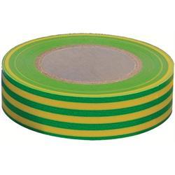 Eltejp, grön/gul, 15 mm, 10 meter