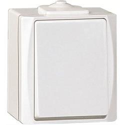 NOVA kapslad strömbrytare 1-pol/trapp, utanpåliggande, vit