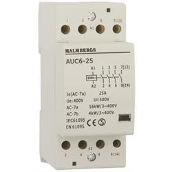 Installationskontaktor, 2 modul, 25A, 4-Pol