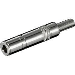 Telejack mono 6.3 mm, metallhölje