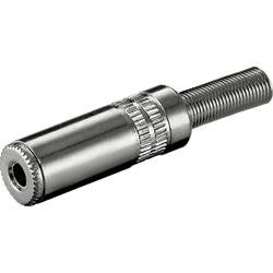 Telejack stereo 3.5 mm, metallhölje