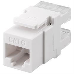 UTP Cat6 Keystone kontaktdon, UTP, vit