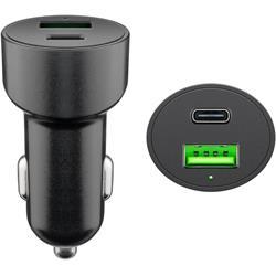 Goobay 12 volt 2-ports USB-laddare, QC / USB-C PD, 48 W