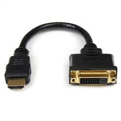 20 cm HDMI till DVI-D-videokabeladapter - HDMI-hane till DVI-hona