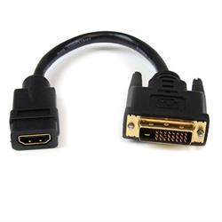 20 cm HDMI till DVI-D-videokabeladapter - HDMI-hona till DVI-hane