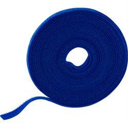 Kardborrband, 5m, 9mm, Blå