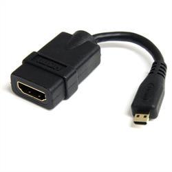 Höghastighets-HDMI-kabeladapter på 12cm - HDMI till HDMI Micro - F/M
